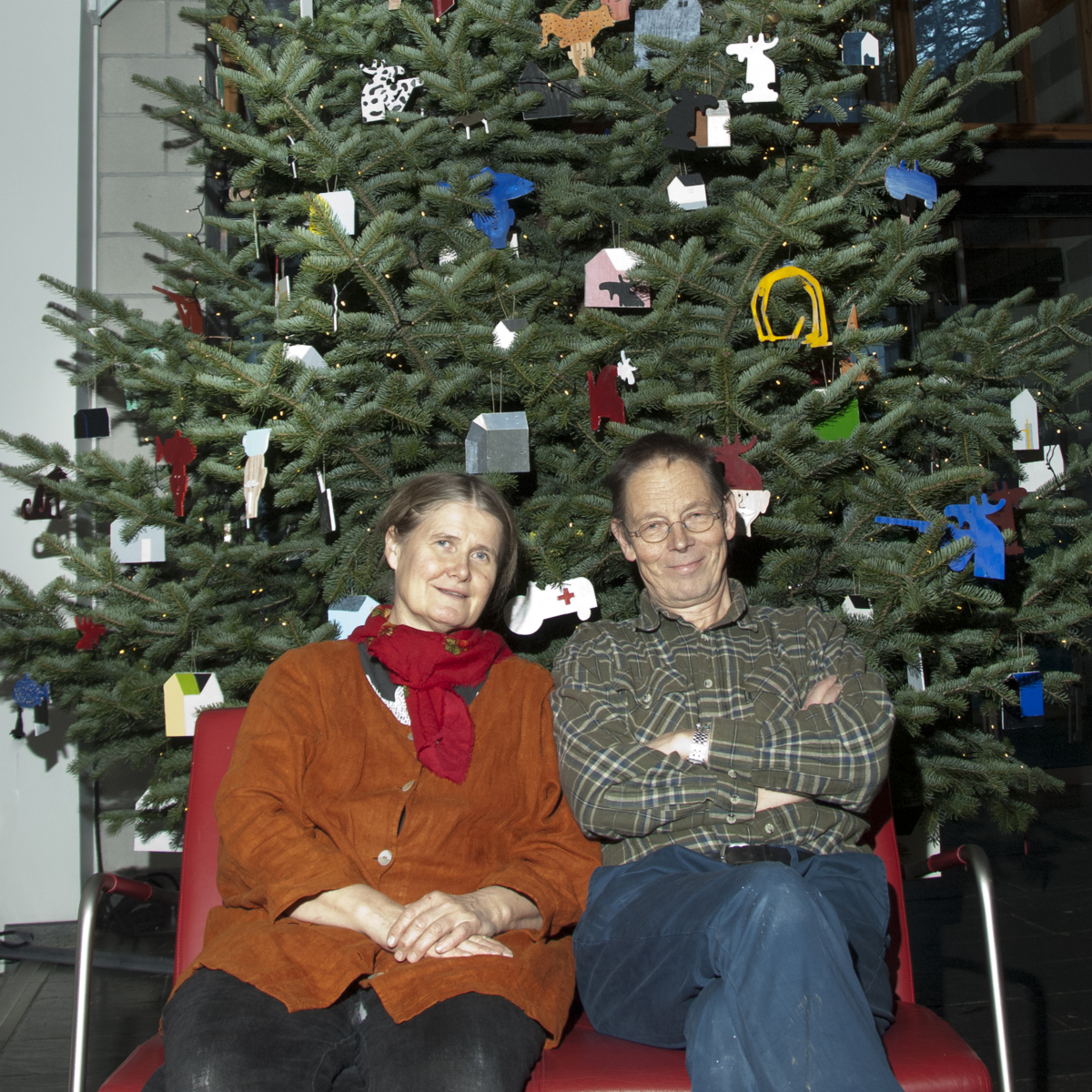 Maihaugen's Christmas tree 2013, decorated by Hanne Borchgrevink and Tore Hansen. Photo: Audbjørn Rønning/Maihaugen