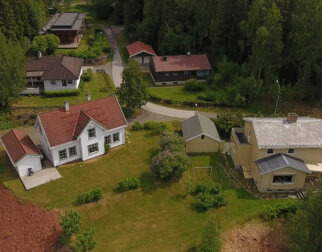 Air view of the Residential Area at Maihaugen.