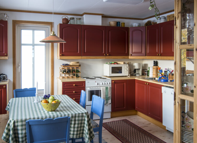 The kitchen in the 1990s house at Maihaugen open air-museum in Lillehammer.