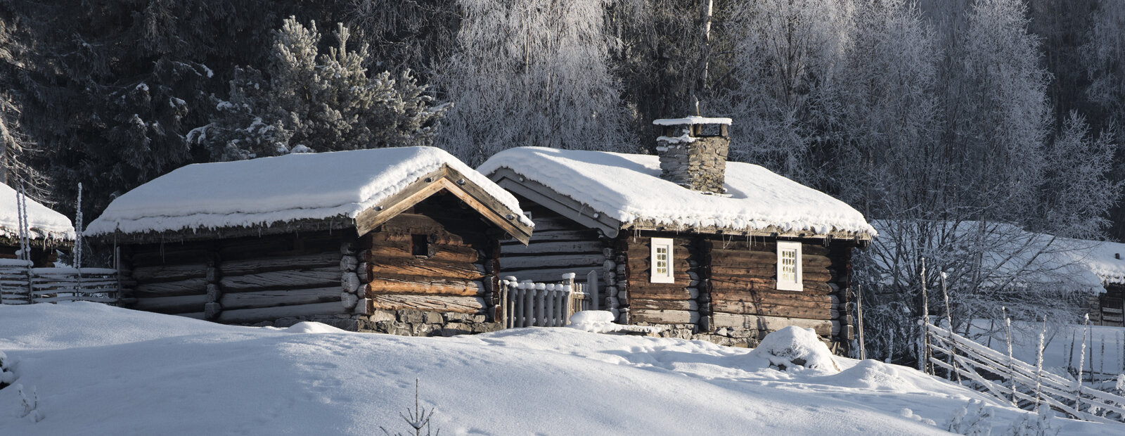 Setergrenda på Maihaugen vinterstid.