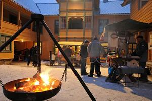 Bålpanne under julemarkedet på Maihaugen på Lillehammer