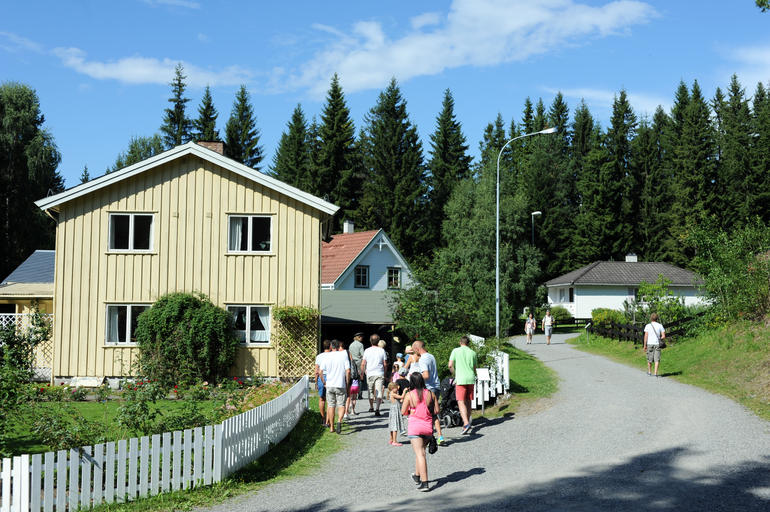 Wooden houses at Maihaugen in Lillehammer.